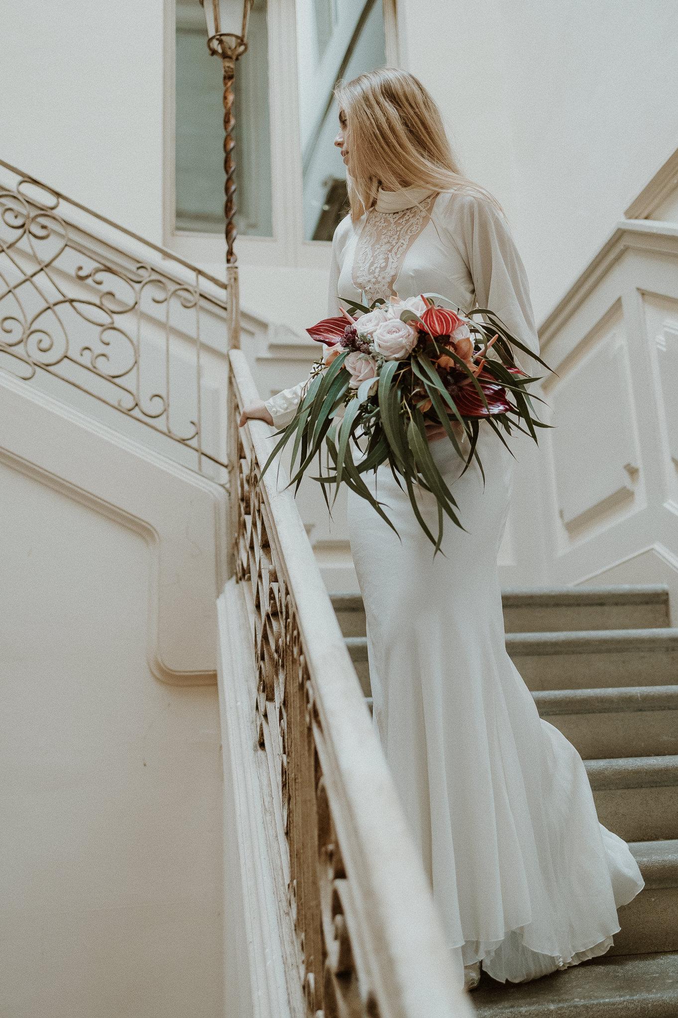 vestido de novia boho chic samsara, castell de caramany, bodas en girona, flores para bodas, flors jumel