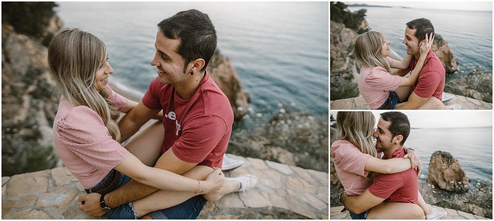 Pareja en la costa brava, lugares para visitar en la costa brava, Begur, Illa Roja, Levis España, pareja en sesión de fotos de preboda