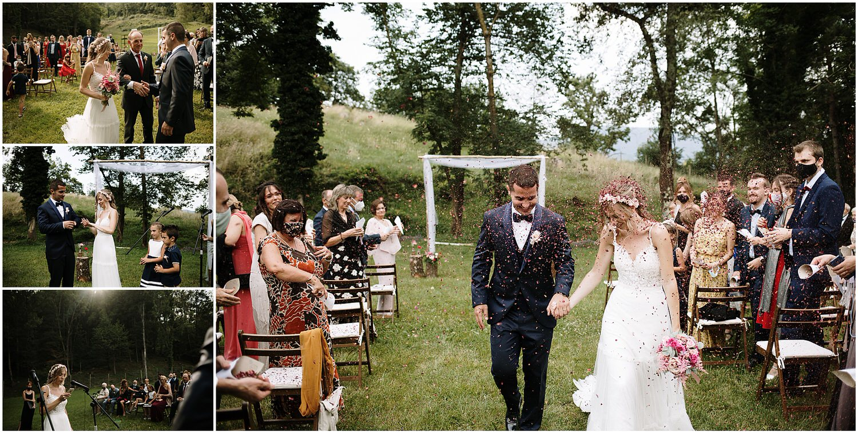 Tirar flores a la salida de los novios en su ceremonia