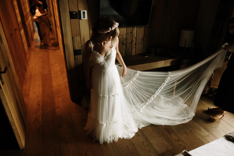 Novia preparación para su boda.