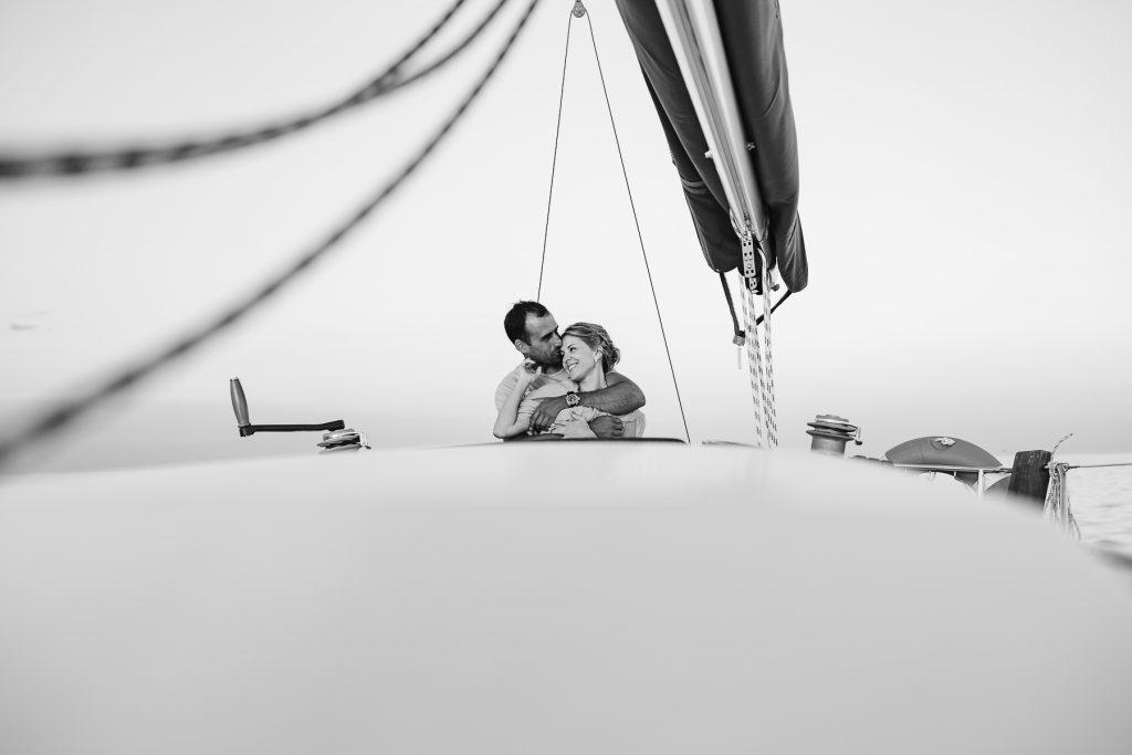 Paseo en velero en la costa brava